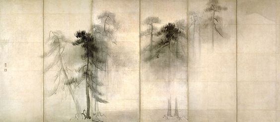Tohaku Japanese Brush Painting///