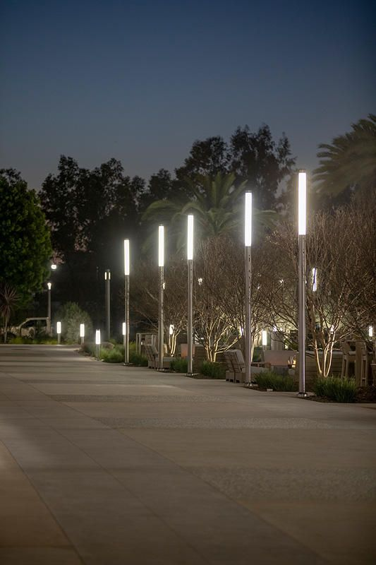 Light Column Pedestrian Lighting Custom Height In Stainless
