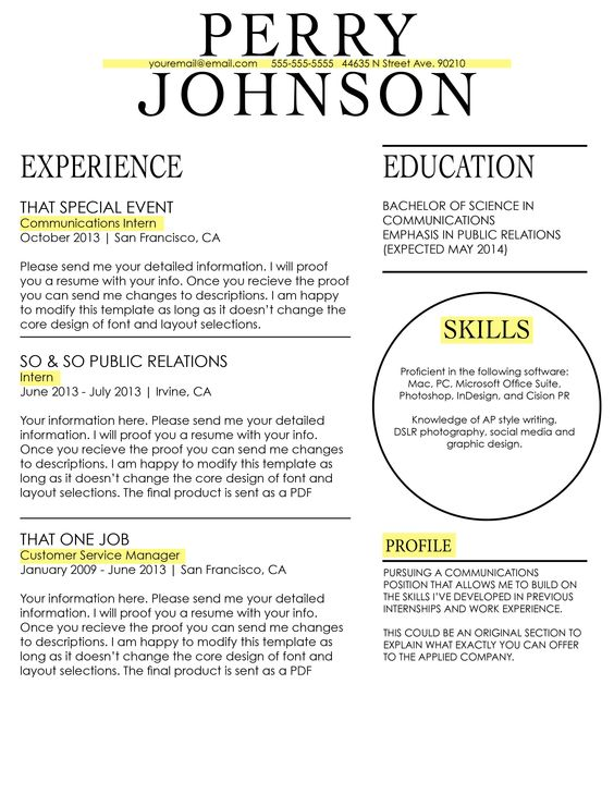 Resume #Template Available on Etsy CV Pinterest Portfolio - resume software mac
