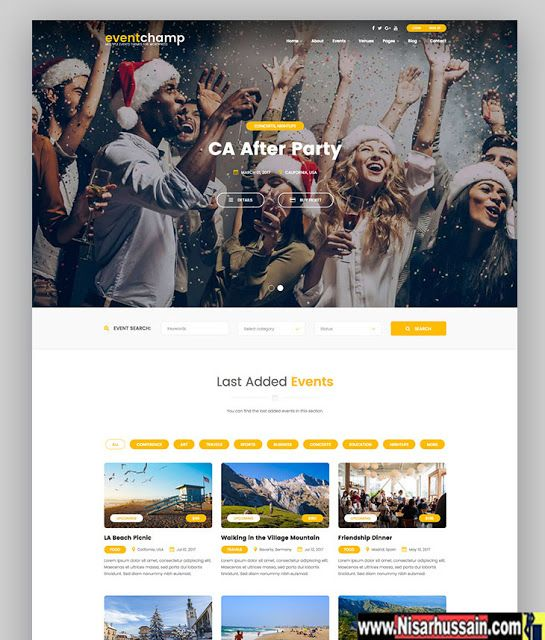 Event Champ Premium WP Theme for Event Blogging | Wordpress Themes ...