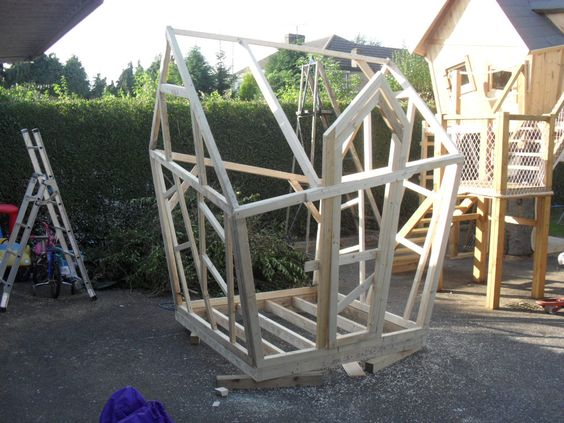 Playhouse plans, House and Wood turning on Pinterest