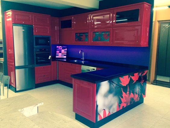 Muebles cocina rojo ferrari  Decorama eo  Pinterest  Ferrari