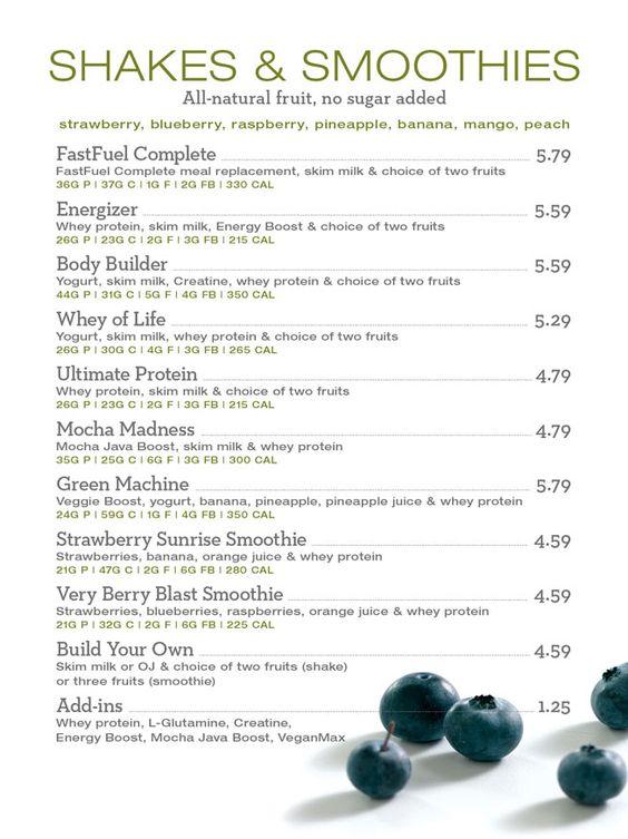 Lifetime Fitness Cafe Menu Prices