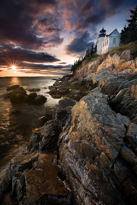 Bass Harbor Head Light,Maine by Brettc.deviantart.com on @deviantART