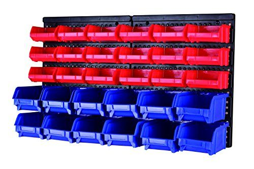 Maxworks 80694 30 Bin Wall Mount Parts Rack Storage For Your Nuts