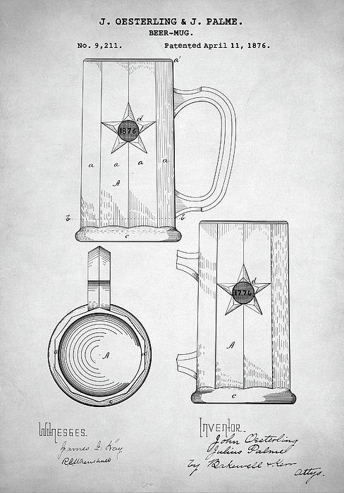Beer Gift Patent Prints Kitchen Set of 3 Art Prints Beer Decor Bartender Gifts Beer Drawing Foodie Gift Beer Poster Beer Wall Art