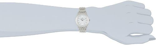 Bulova Women's 96R164 Round Diamond Bezel Watch  The Bulova Women's 96R164 Round Diamond Bezel Watch is a beautiful timepiece with fabulous details. Featuring a mother-of-pearl analog dial, diamond-accented bezel and a silver stainless steel band, this watch is teeming with feminine style and grace. Featuring a mother of pearl face and diamond bezel, this Bulova watch effortlessly adds luster to any occasion. Featuring a mother of pearl face and diamond bezel, this Bulova watch effor..