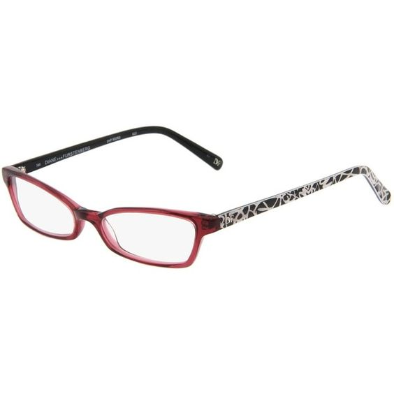 Diane Von Furstenberg DVF502RD (€47) ❤ liked on Polyvore featuring accessories, eyewear, sunglasses, women, glasses, clear eyewear, plastic reading glasses, lens glasses, plastic glasses and diane von furstenberg glasses