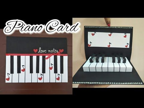 Diy 3d Pop Up Piano Card Tutorial With Layout I Am A Bird Youtube Birthday Card Craft Pop Up Cards Card Tutorial
