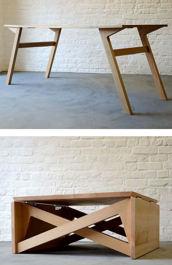 Wooden coffee table MK1 TRANSFORMING by Duffy London