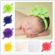 Europeus e americanos de renda Chiffon macio flor crianças Headband do cabelo banda acessórios de cabelo do bebê fotografado ferramenta(China (Mainland))
