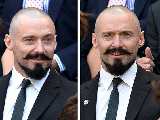 Stress-less ladies! Hugh is only sporting this strange style to play Blackbeard in the live-action remake of J.M. Barrie's famous children's book, Peter Pan.
