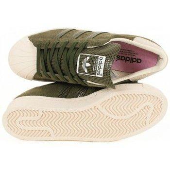 tong timberland - Baskets mode adidas Originals Basket Superstar 80s Kaki Vert ...