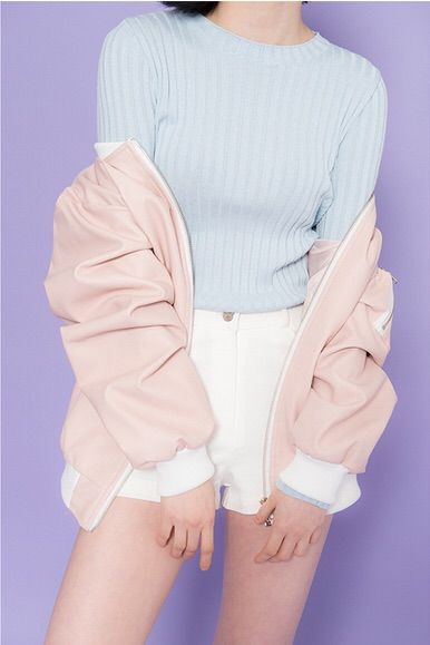 Imagen v a we heart it aesthetic blue clothes fashion for Pastel pink dress shirt