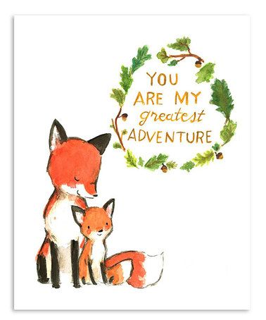 Baby Mine Fox Print by trafalgar's square #zulily #zulilyfinds