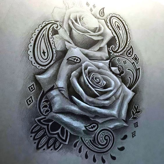 Pencil Drawing Of The Chicano Rose Chicano Style Tattoo Neck Tattoo Pattern Tattoo