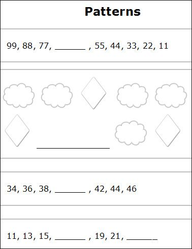 DIVISION PATTERNS WORKSHEET | Hobies | Pinterest | Math Patterns ...