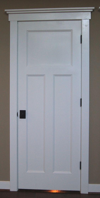 craftsman style door trim | Craftsman style interior doors, stained wood instead, with same trim ...