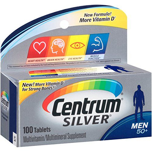 Centrum Silver Mens 50 Tablets 100 Tablets * For more information, visit image link.