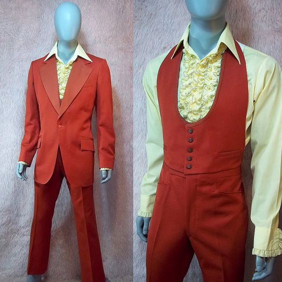 70's formal wear to inspire the groom, Kenneth Owens. http://afoulplay.com/mysteries/hotel-hawthorne-haunts/