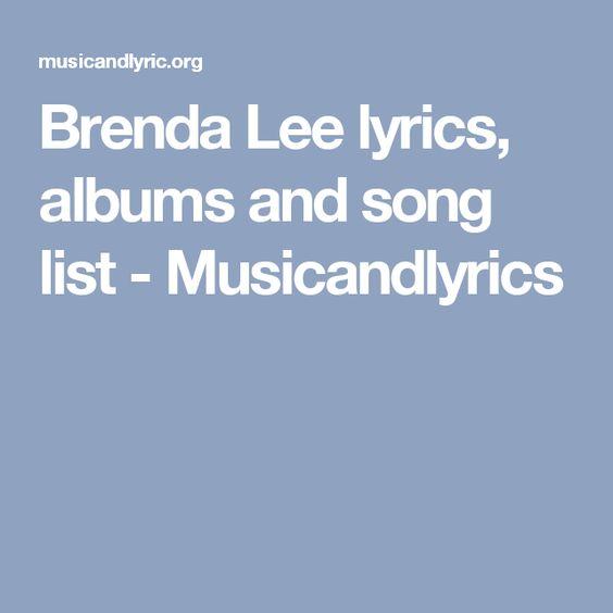 Brenda Lee lyrics, albums and song list - Musicandlyrics