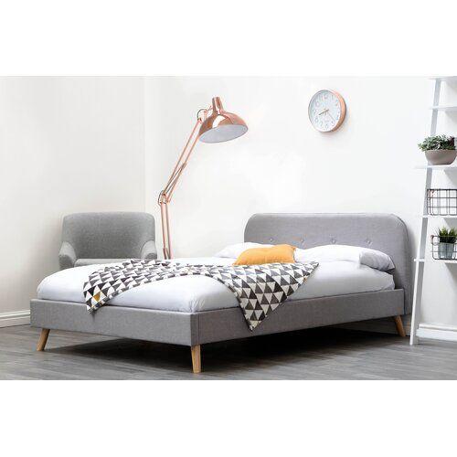 Warwickshire Low Headboard Upholstered Bed Frame Fjorde Co Size