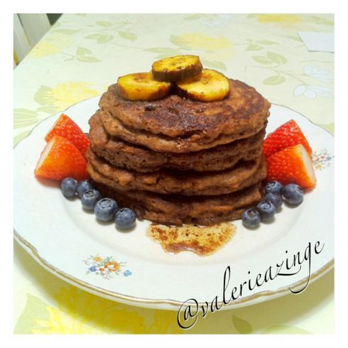 Carmalized Plantain Pancakes with Sweet Cinnamon Plantain Syrup 1 very ...