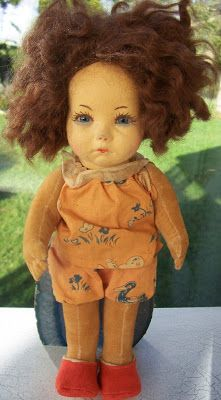Such a cutie! Doll by Norah Wellings http://norahwellingsjournal.blogspot.com.au/
