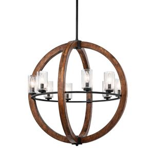 4 Light Lodge/Country Style Chandelier