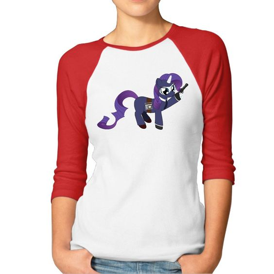 ReBorn Women Pony Spy Baseball Raglan Tshirt Red L -- Awesome products selected by Anna Churchill