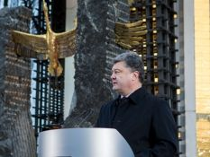 """Poroshenko sees """"terrible analogies"""" between Holodomor and the Donbas war  2014/11/23 • News  From the standpoint of current events, there is now a new understanding of  the Holodomor of 1932-33. At that time Stalin's regime was carrying out an undeclared war against Ukraine, similar to what is happening today in the East, President Poroshenko said at a ceremony commemorating the victims of Holodomor in Ukraine, on Saturday, November 22, reports the Ukrinform news agency."""