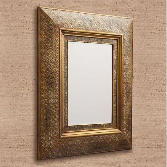 Juan Golden Wall Mirror by Tozai Home - Seven Colonial