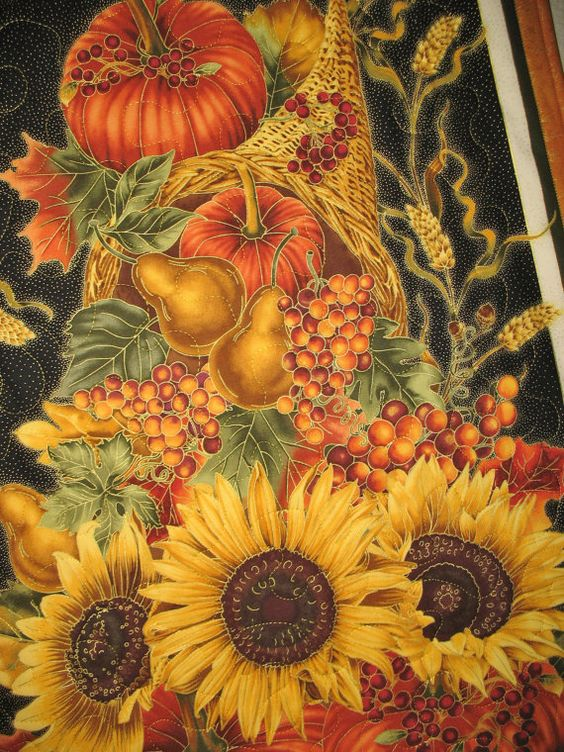 Autumn Harvest Wall Hanging from Timeless by PicketFenceFabric, $32.95