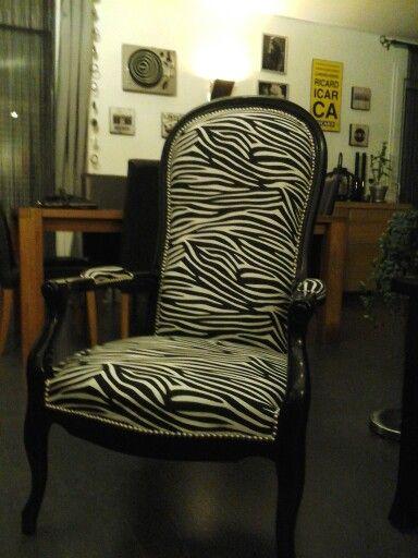 Fauteuil voltaire z bre meubles r nov s pinterest - Fauteuil zebre ...