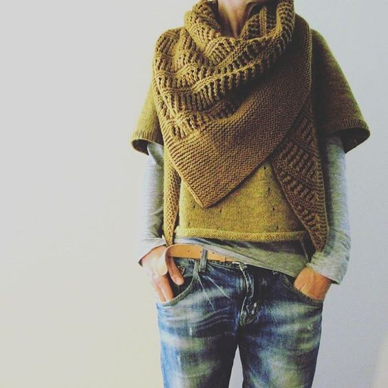 Chunky knit layers: