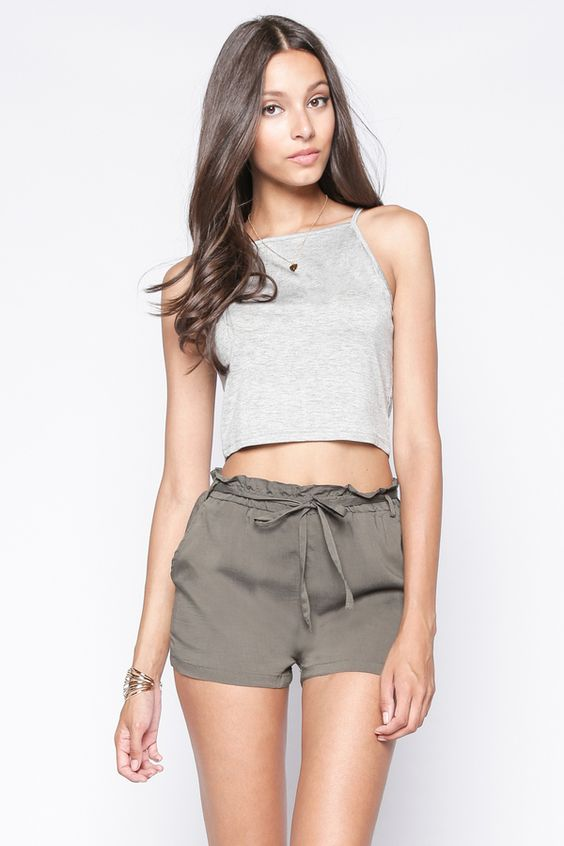 90s Lullaby - SERENA OLIVE SHORTS, $14.90 (http://www.90slullaby.com/shop/essentials/serena-olive-shorts/)