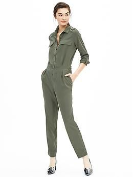 Green Jumpsuit @ Banana Republic | M.S.I. - Women's Wear ...