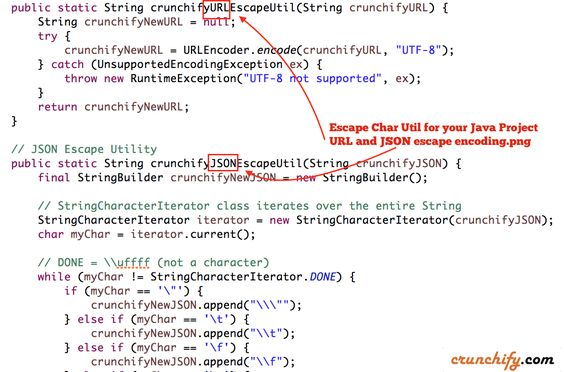 Escape Character Utility for #URL and #JSON data – Free to use in your #Java #Project http://crunchify.me/1VIAbm7 #job #interview #production