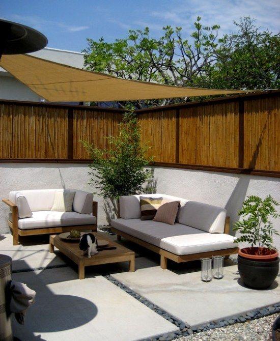 Bambus Patio Ideen Garten Balkon Windschutz | Landscape ... Outdoor Patio Design Ideen