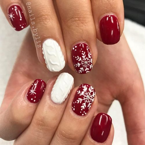 54 Best Christmas Nails Of Instagram For 2018 Favhq Com Snowflake Nail Design Snowflake Nail Art Christmas Nail Designs