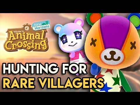 Hunting For The Rarest Villagers In Animal Crossing New Horizons Youtube Animal Crossing Animal Crossing Villagers Animal Crossing Characters