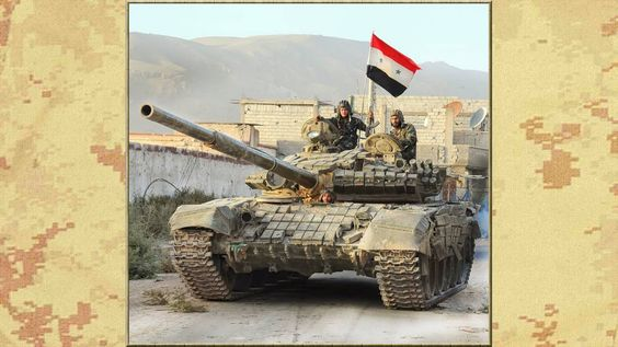 MBT T-72 BRICKED UP Syrian Armed forces.