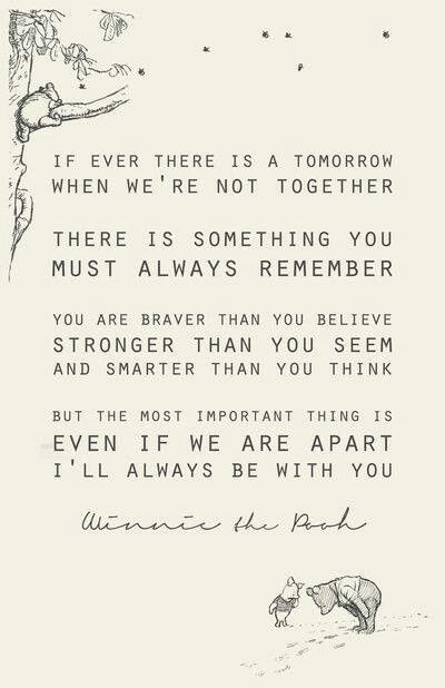 The best quote about friendship ever, from Christopher Robin to Winnie the Pooh.