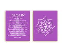 Namaste Print INSTANT DOWNLOAD Printable Namaste Quote, Buddha, Lotus, Ohm Symbol, Buddha Wall Art, Meditation, Yoga. Spiritual Wall Decor