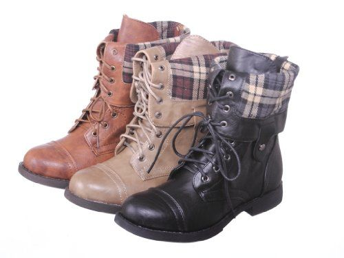 New! Military Combat Boot Fold-over C...