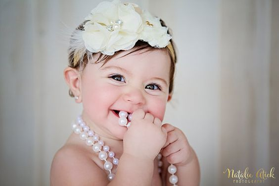 Goldfrapp ivory and gold headband with  by babybirdieboutique, $17.50