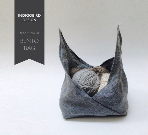 "free tutorial : Bento Bag by ""indigobird design"""