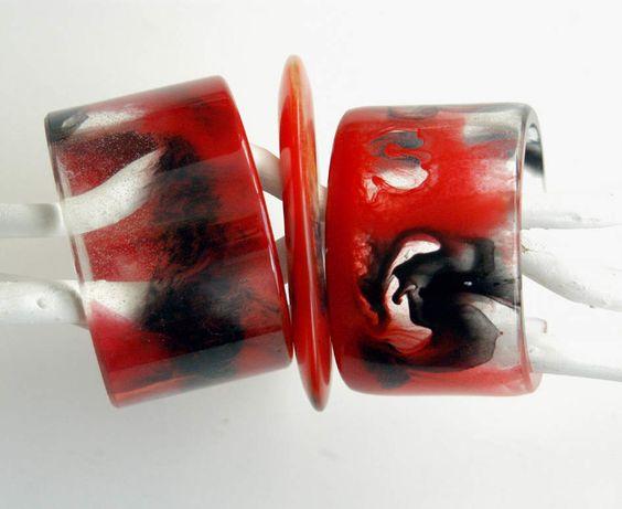 marbled resin bangles