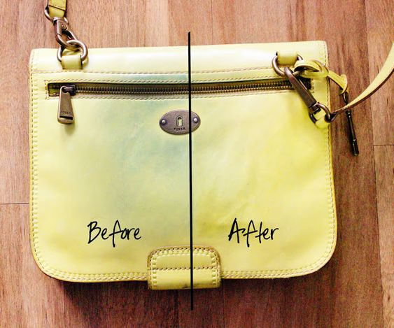 How to clean coloured leather handbags