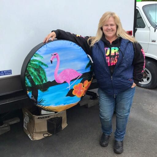 Flamingo Spare Tire Cover Custom Tire Covers Spare Tire Covers